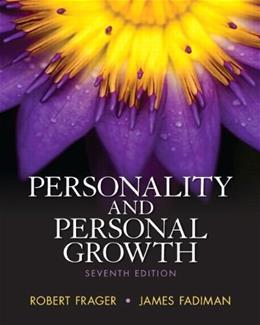 Personality and Personal Growth, by Frager, 7th Edition 7 PKG 9780205953752