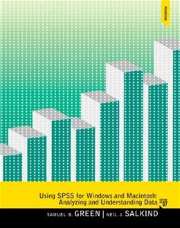 Using SPSS for Windows and Macintosh (7th Edition) 9780205958603