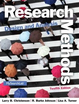 Research Methods, Design, and Analysis (12th Edition) 9780205961252