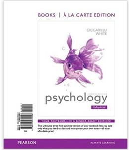 Psychology, Books a la Carte Edition (4th Edition) 9780205972258
