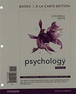 Psychology, Books a la Carte Plus NEW MyPsychLab with eText -- Access Card Package (4th Edition) 4 PKG 9780205977376