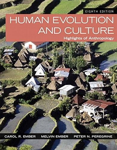 Human Evolution and Culture: Highlights of Anthropology (8th Edition) 9780205999323