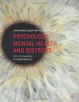 Psychology, Mental Health and Distress, by Cromby 9780230549562