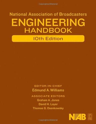 National Association of Broadcasters Engineering Handbook, by Williams, 10th Edition 10 w/CD 9780240807515