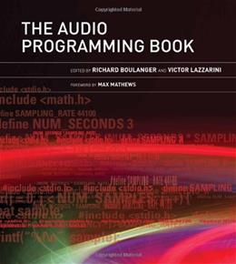 Audio Programming Book, by Boulanger BK w/DVD 9780262014465