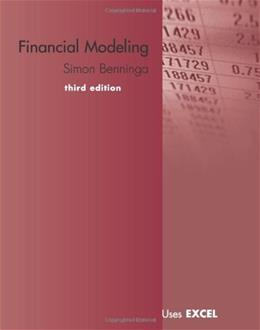Financial Modeling, by Benninga, 3rd Edition 3 w/CD 9780262026284
