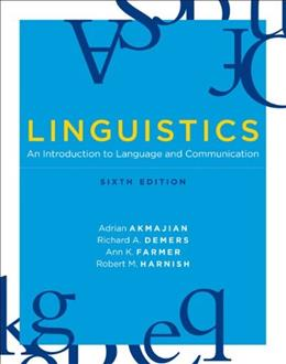 Linguistics: An Introduction to Language and Communication, 6th edition (MIT Press) 9780262513708