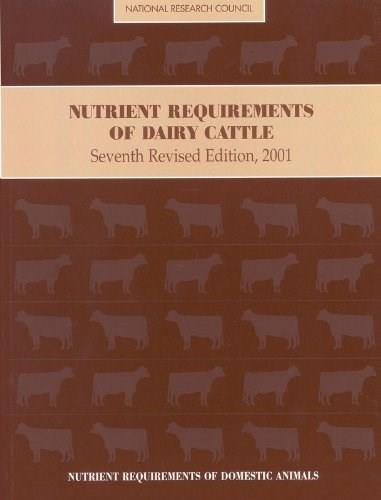 Nutrient Requirements of Dairy Cattle, by National Research Council, by Subcommittee on Dairy Cattle Nutrition, 7th Revised Edition 7 w/CD 9780309069977