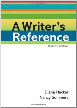 Writers Reference, by Hacker, 7th Edition 9780312601430