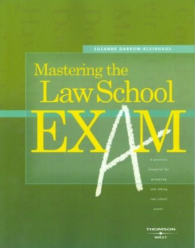 Mastering the Law School Exam, by Darrow-Kleinhaus 9780314162816