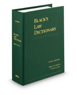 Blacks Law Dictionary, by Garner, Standard 9th Edition 9780314199492