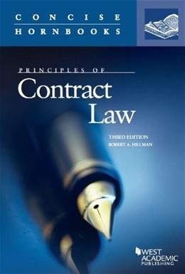 Principles of Contract Law, by Hillman, 3rd Edition 9780314288943