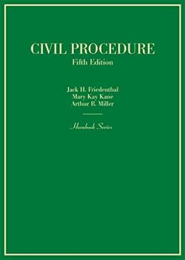 Civil Procedure, by Friedenthal, 5th Edition 9780314290380