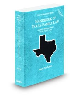 Handbook of Texas Family Law, by Koons 9780314606976
