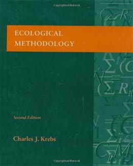 Ecological Methodology, by Krebs, 2nd Edition 9780321021731