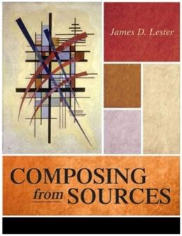 Composing From Sources, by Lester 9780321108265