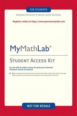 MyMathLab Student Access Kit, by Addison Wesley, 3rd Edition, ACCESS CODE ONLY 3 PKG 9780321199904