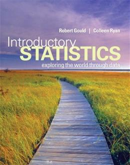 Introductory Statistics: Exploring the World Through Data BK w/CD 9780321322159