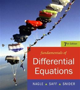 Fundamentals of Differential Equations, by Nagle, 7th Edition 7 w/CD 9780321388414