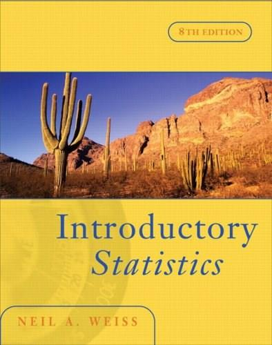 Introductory Statistics, by Weiss, 8th Edition 8 w/CD 9780321393616