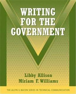 Writing for the Government, by Allison 9780321427014