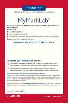 MyMathLab: Student Access Kit, by Pearson, ACCESS CODE ONLY PKG 9780321431301
