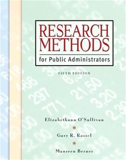 Research Methods for Public Administrators, by O