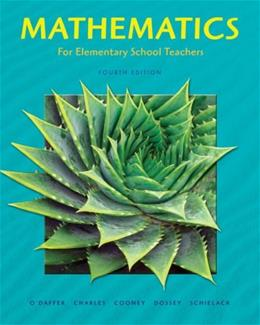 Mathematics for Elementary School Teachers, by O