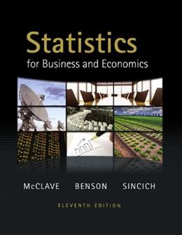 Statistics for Business and Economics (11th Edition) 11 w/CD 9780321640116