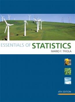 Essentials of Statistics, by Triola, 4th Edition 4 w/CD 9780321641496