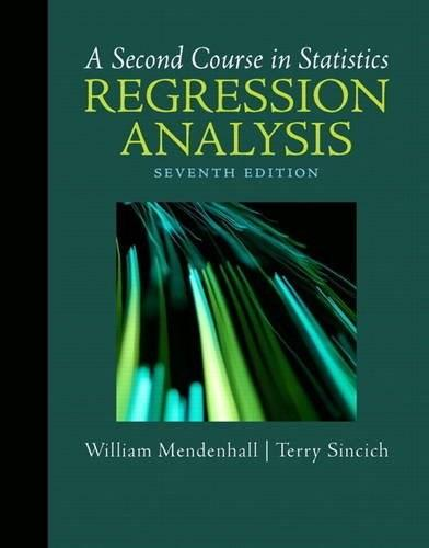 A Second Course in Statistics: Regression Analysis (7th Edition) 7 w/CD 9780321691699