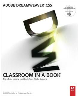 Adobe Dreamweaver CS5 Classroom in a Book, by Adobe Creative Team BK w/DVD 9780321701770