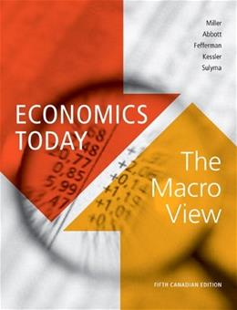 Economics Today: Macro View, by Miller, 5th CANADIAN Edition 9780321708731