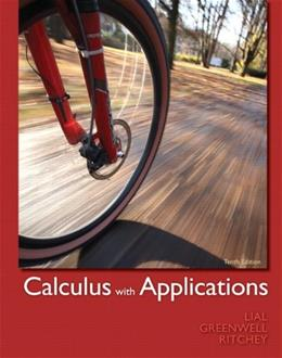 Calculus with Applications (10th Edition) 9780321749000