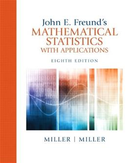 John E. Freunds Mathematical Statistics with Applications (8th Edition) 9780321807090