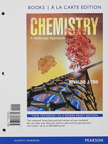 Chemistry: A Molecular Approach, Books a la Carte Plus MasteringChemistry with eText -- Access Card Package (3rd Edition) 3 PKG 9780321813619