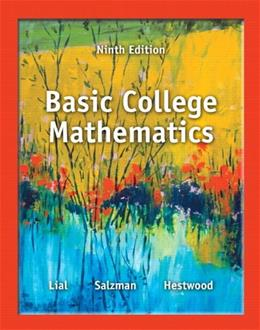 Basic College Mathematics (9th Edition) 9780321825537