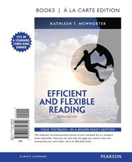 Efficient and Flexible Reading, by McWhorter, 10th Books a la Carte Edition 9780321829399