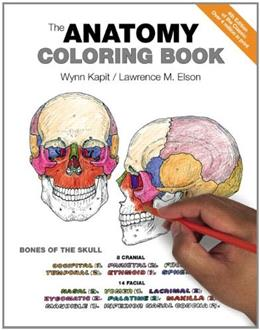 Anatomy Coloring Book, by Kapit, 4th Edition, Workbook 9780321832016
