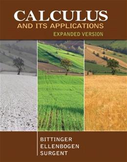Calculus and Its Applications, by Bittinger, Expanded Version 9780321838209
