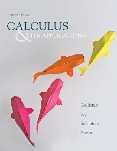 Calculus & Its Applications (13th Edition) 9780321848901