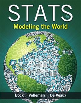 Stats Modeling the World, 4th Edition 4 w/CD 9780321854018