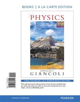 Physics: Principles with Applications, by Giancoli, 7th Books a la Carte Edition 9780321869111