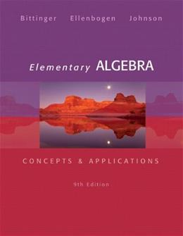 Elementary Algebra: Concepts & Applications (9th Edition) 9780321874221