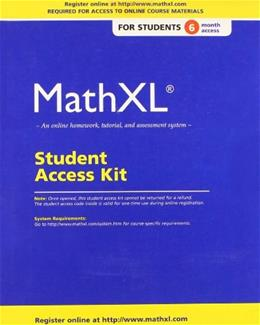 MathXL, by Pearson, Access Code Only PKG 9780321878359