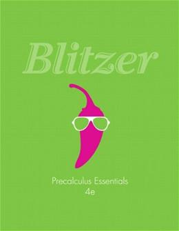 Precalculus Essentials, by Blitzer, 4th Edition 4 PKG 9780321900777