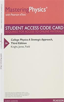 MasteringPhysics with Pearson eText - Valuepack Access Card - for College Physics: A Strategic Approach 3 PKG 9780321905208