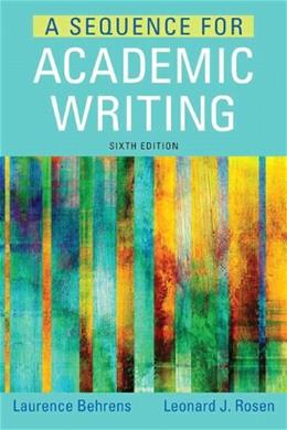 Sequence for Academic Writing (6th Edition) 9780321906816