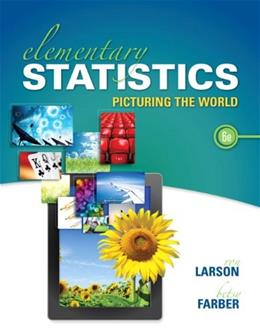Elementary Statistics: Picturing the World (6th Edition) 6 w/CD 9780321911216