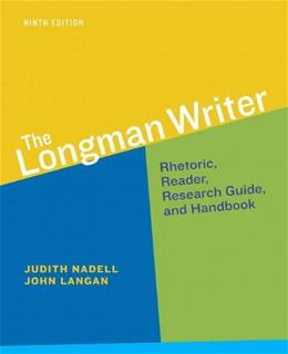 The Longman Writer (9th Edition) - Standalone book 9780321914132